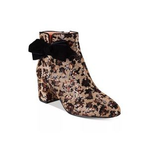 New Kate Spade Langley Leopard Sequins Boots 6.5